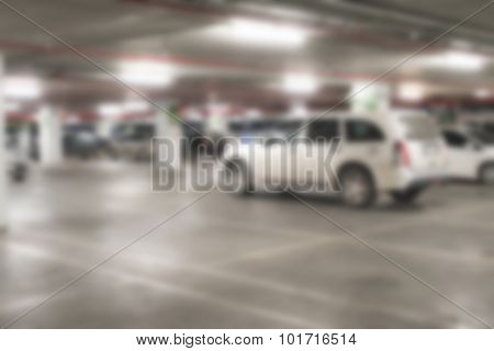 Abstract blur Parking garage