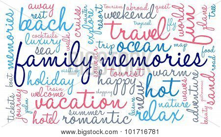 Family Memories Word Cloud
