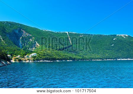 Village of Merag on the island of Cres, Croatia