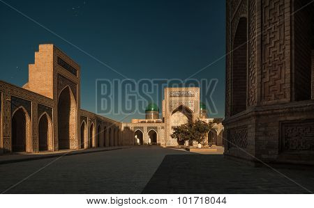 Inside the complex of buildings of Poi Kalyan, Bukhara, Uzbekistan