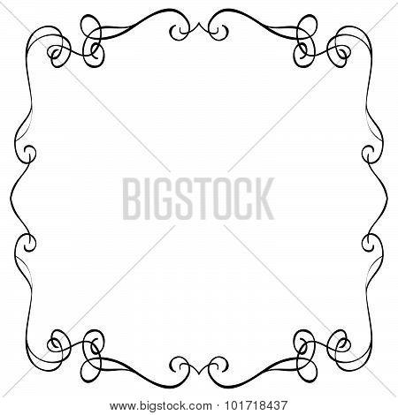 Ornate Frame On A White Background