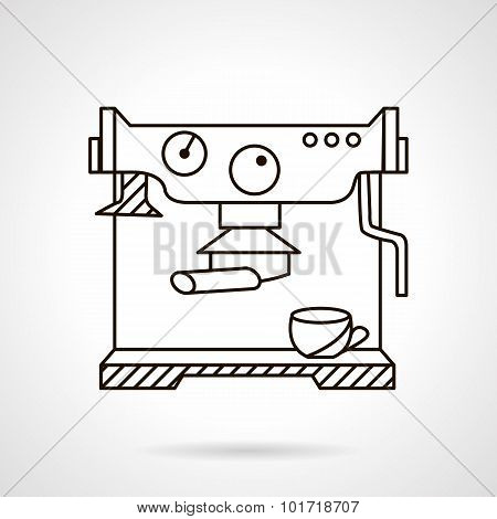 Coffee machine stylish line vector icon