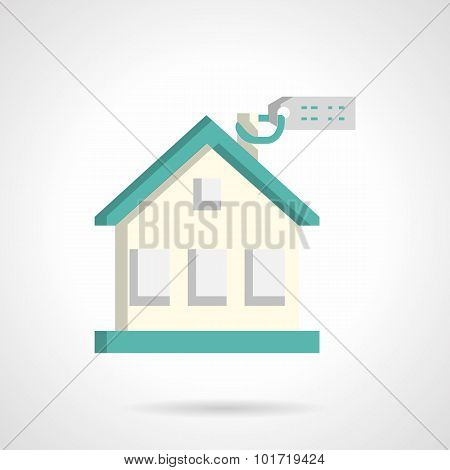 House for sale flat vector icon
