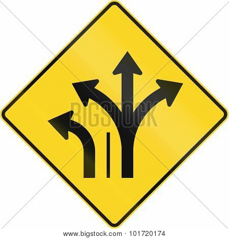 Two Lanes With Left Turn Lane In Canada