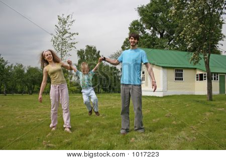 Family In Yard