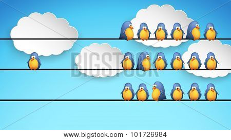 birds on wire