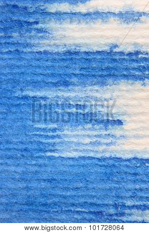 Macro Blue Watercolor on Textured paper 1