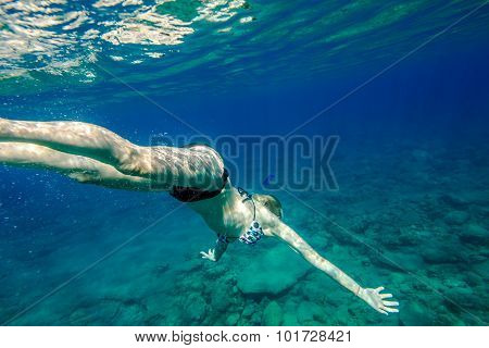 Female snorkeling