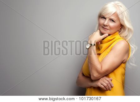 Portrait Of Attractive Senior Woman.