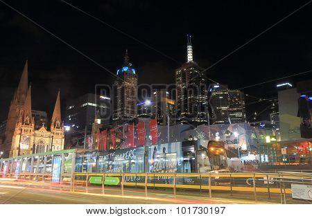 Melbourne tram cityscape Australia