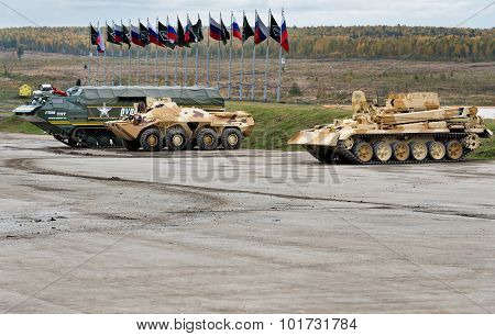 Engineering Military Vehicles At The Firing Range