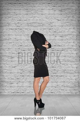 Headless businesswoman