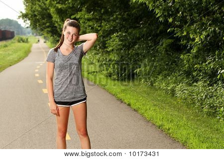 Fitness Woman on path