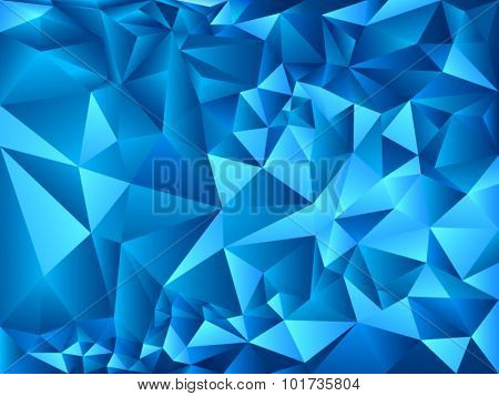 Bright blue polygon background
