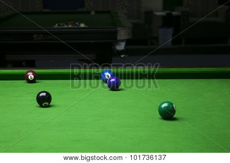 A billiard room