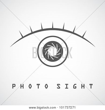 Photo Eye Logo Template