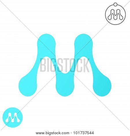 M Letter, Molecule Logo