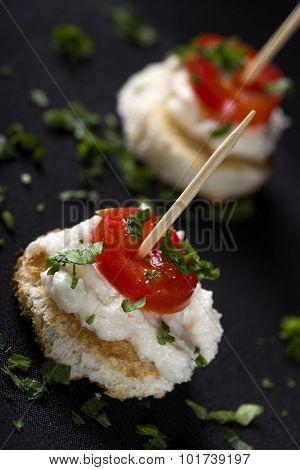 Roe Salad Appetizer