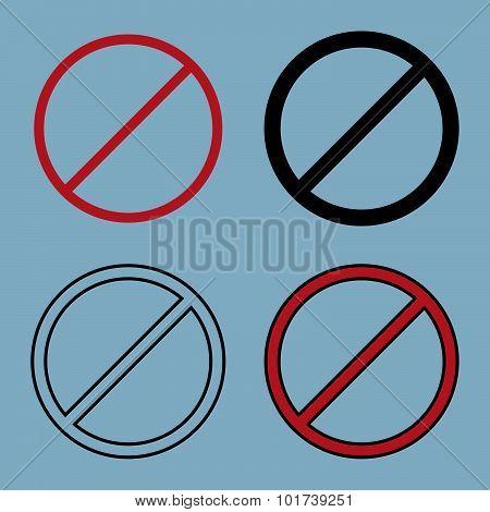 Stop(ban) Sign Icon Set