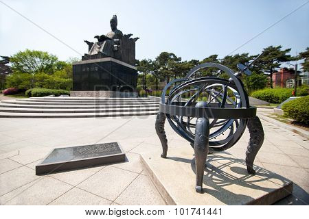 Monument Of Ancient Emperor In Seoul