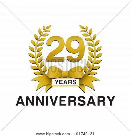 29th anniversary golden wreath logo