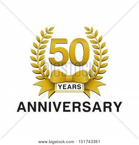 50th anniversary golden wreath logo