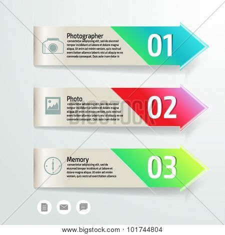 Vector colorful photo info graphics for your business presentations. Can be used for info graphics, graphic or website layout vector, numbered banners, diagram, web design.