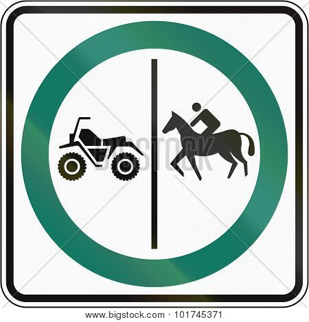 Equestrian And Atv Lane In Canada