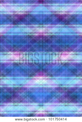 Blue violet checkered matte background covered black dotted lines
