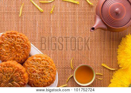Mooncake And Tea Pot