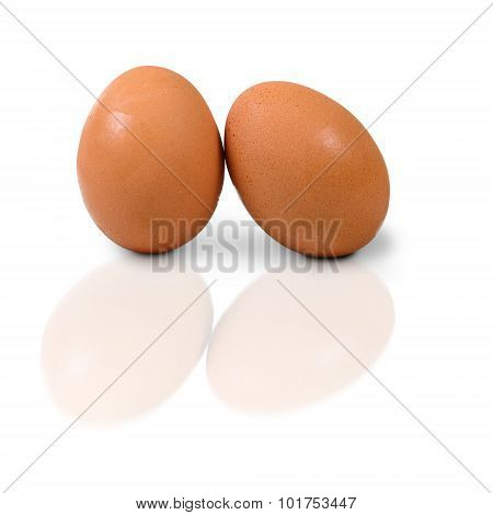 Two Eggs Isolate On White Background