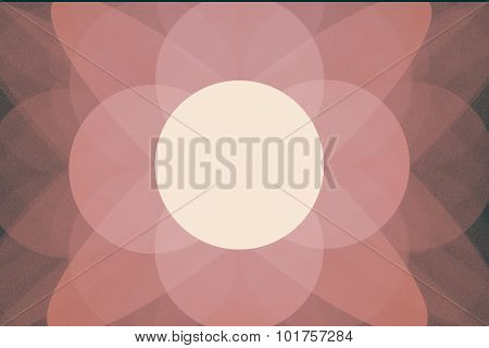 Fractal Image: Geometric Pattern Of Circles.