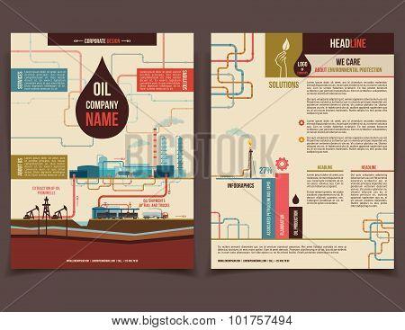 Oil Company Corporate Flyer