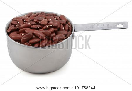 Red Kidney Beans In A Measuring Cup