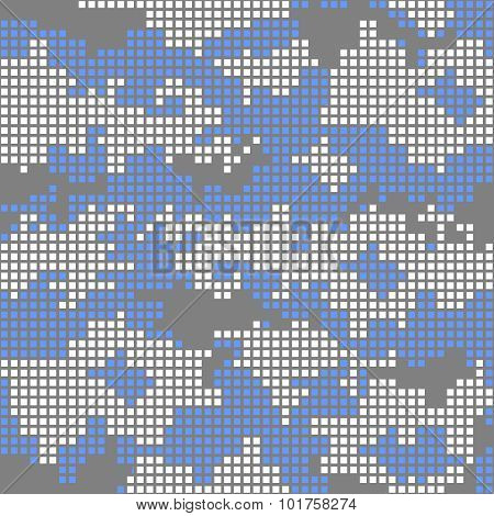 Urban camo pattern - blue pixels