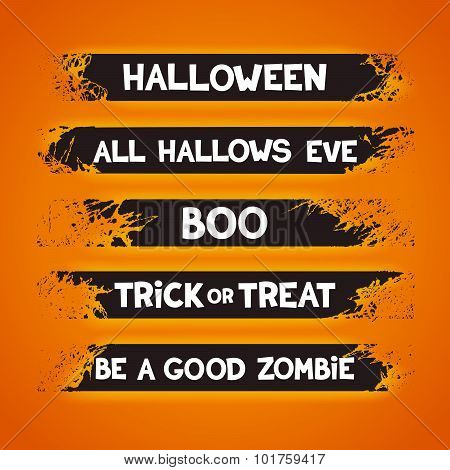Design elements for halloween holidays
