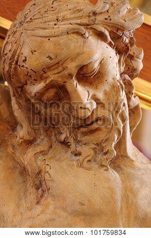 christ wooden statue