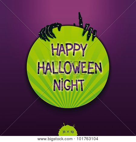 Creative sticker for Halloween holiday