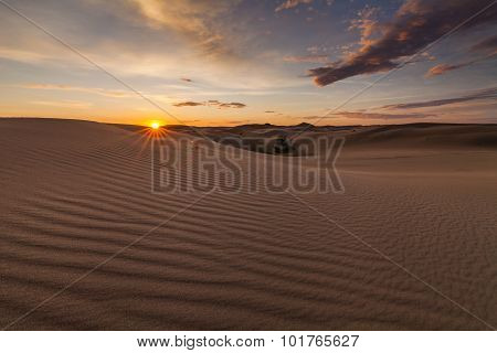 Beautiful Views Of The Gobi Desert. Mongolia.