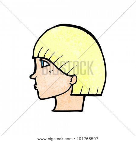 cartoon side profile face