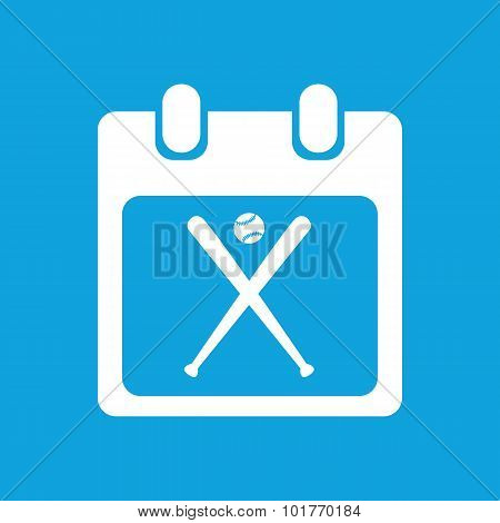 Baseball schedule icon, simple