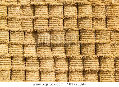 Stacked Round Strawbales
