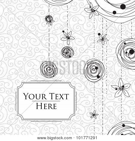 Card with Scribbles on a Background