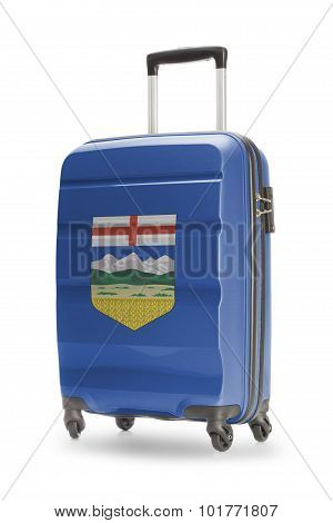 Suitcase With Canadian Territory Or Province Flag Series - Alaberta