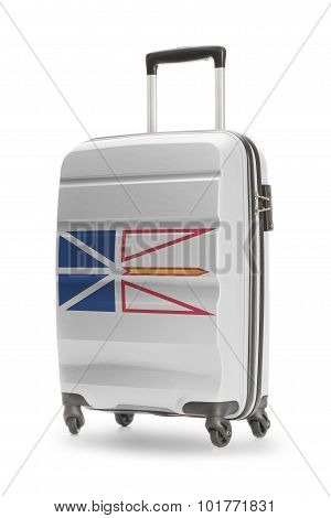 Suitcase With Canadian Territory Or Province Flag Series - Newfoundland And Labrador