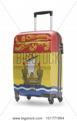 Suitcase With Canadian Territory Or Province Flag Series - New Brunswick