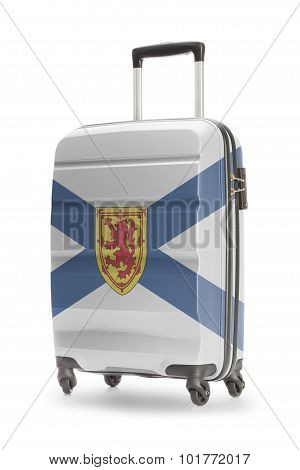 Suitcase With Canadian Territory Or Province Flag Series - Nova Scotia