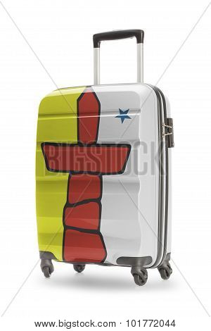 Suitcase With Canadian Territory Or Province Flag Series - Nunavut
