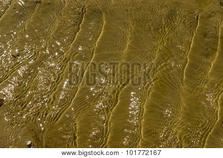 Water Ripples On A Puddle