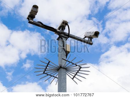 Spiked Cctv Cameras
